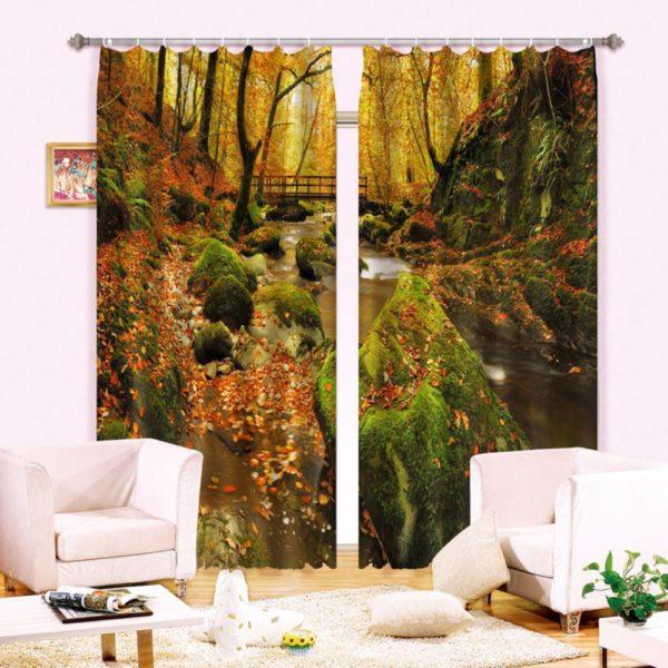 42amazon zpsf1nz8rgw 600x600 - Stylish Nature Themed Curtain Set
