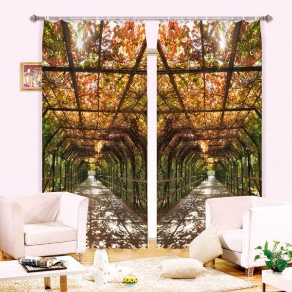 Stylish Nature Themed Curtain Set