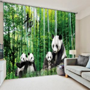 Lovely Panda Picture Curtain Set