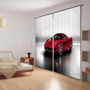Smashing Car Picture Curtain Set