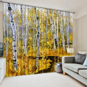 Ultra stylish White And Yellow Curtain Set