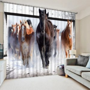 Mesmerizing Horse Animal Curtain Set