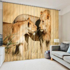 Mesmerizing Lion Curtain Set