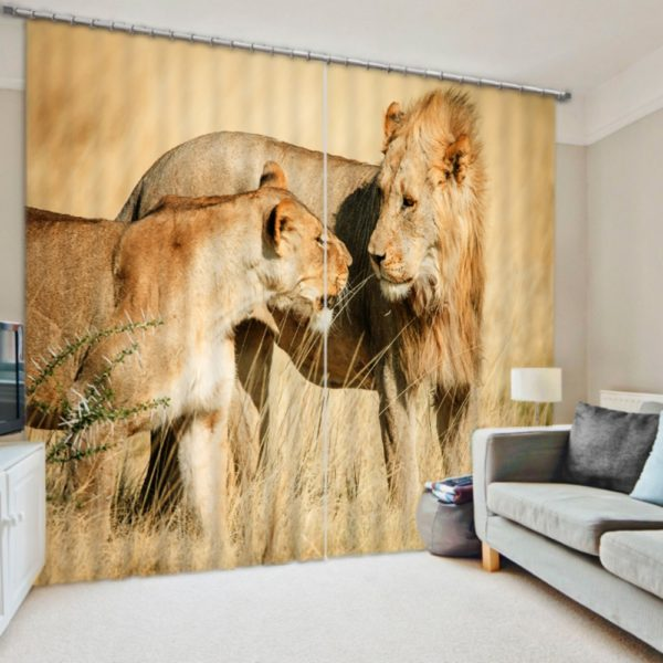 Mesmerizing Lion Curtain Set
