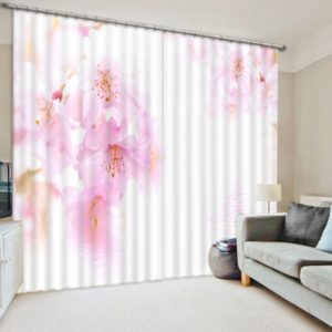 Charming Flower Curtain Set