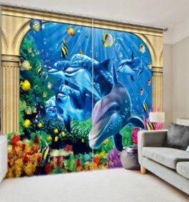 Lovely Marine Curtain Set