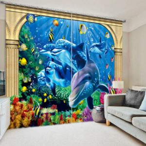 Lovely Marine Curtain Set