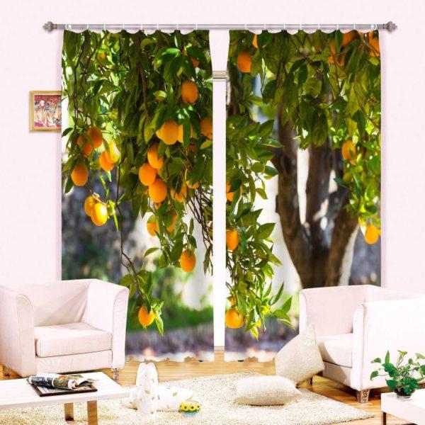 Superb Mango Picture Curtain Set