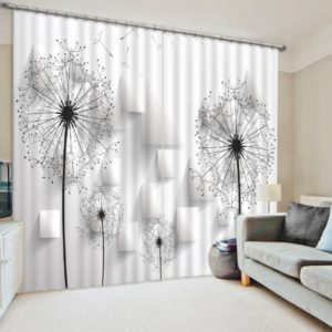 Elegant Dandelion Curtain Set