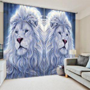 Elegant Lion Curtain Set