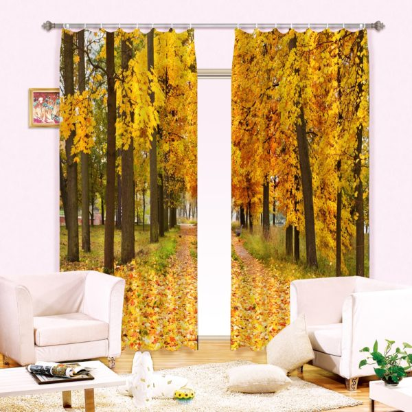 47amazon zpsqn0hnnc0 600x600 - Elegant Autumn Season Curtain Set