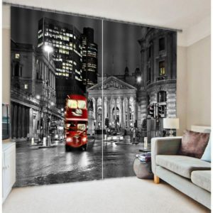 Grand Double-decker Bus Curtain Set