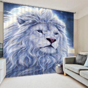 Fashionable Lion Curtain Set