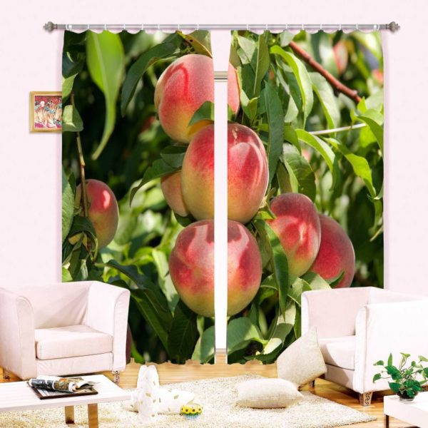 Stylish Apple Curtain Set