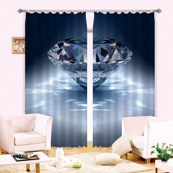 Glitzy Diamond Curtain Set