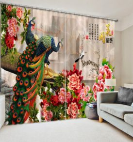 Lovely Peacock Curtain Set