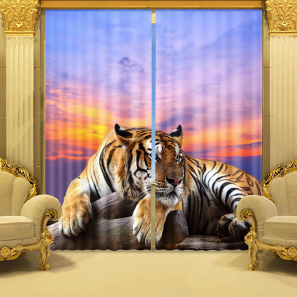 51 zps0yj5csbg 600x600 - Tiger Wildlife Curtain Set