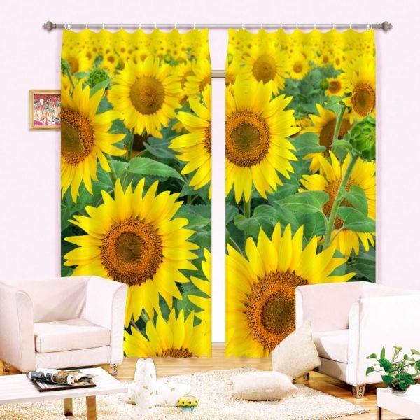 Eye-catching Sunflower Curtain Set