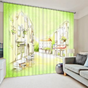 Stylish Coffee themed Curtain Set