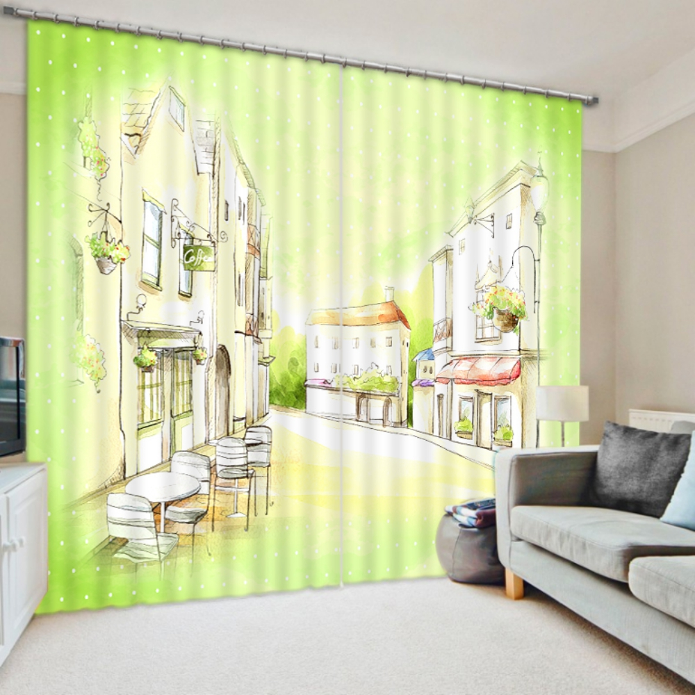 Coffee Themed Kitchen Curtains: Stylish Coffee Themed Curtain Set