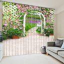Colorful Floral Curtain set