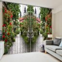 Elegant Floral Curtain set