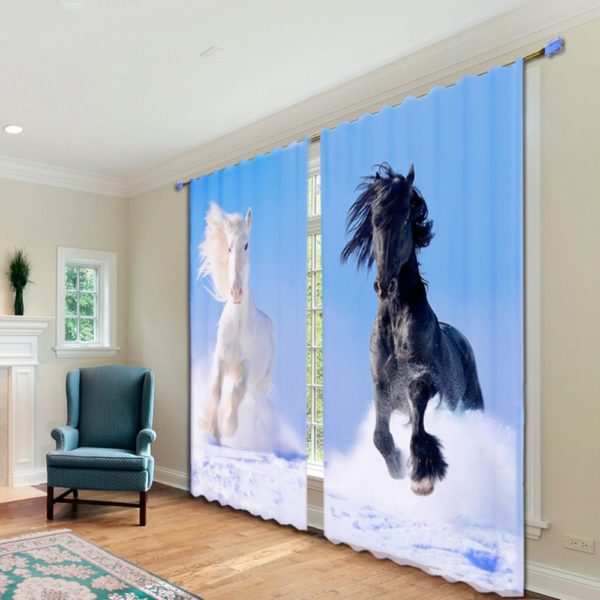 55amazon zpsvavu6esq 600x600 - Majestic Horse Wildlife Curtain Set