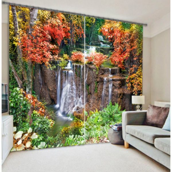 Nice-looking Waterfall Curtain Set