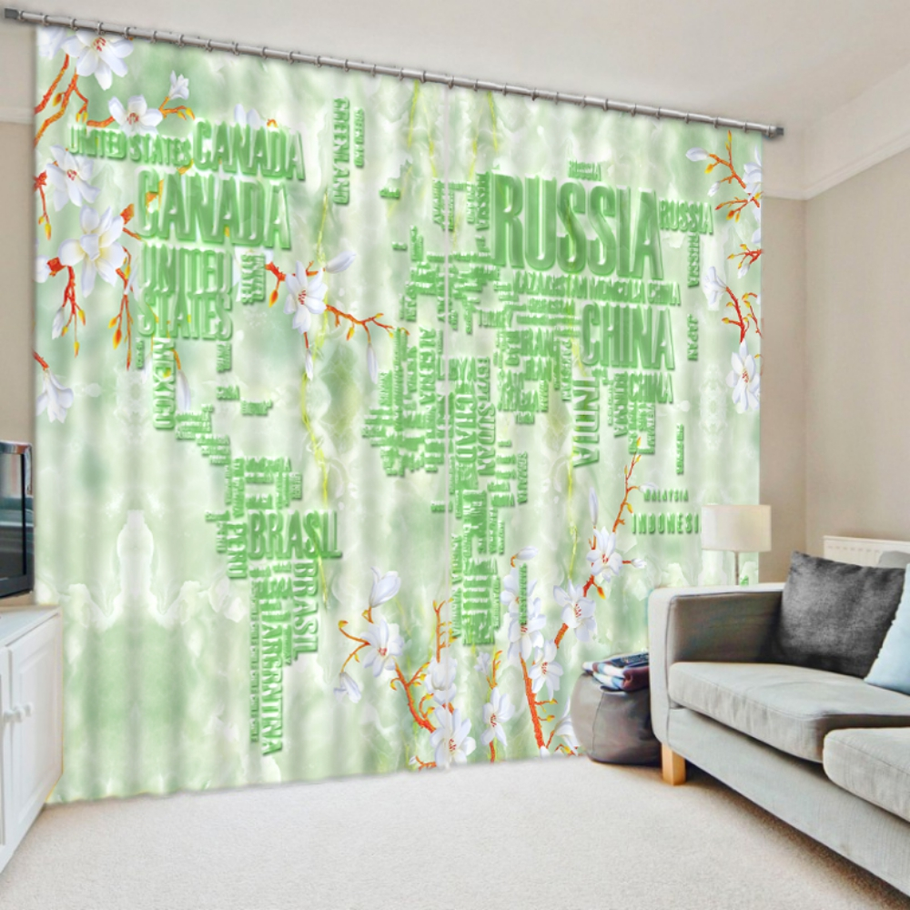 charming white and green curtain set ebeddingsets. Black Bedroom Furniture Sets. Home Design Ideas