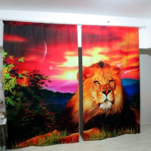 57amazon zpsaqggsifh 300x300 - Lovely  Lion Wildlife Curtain Set