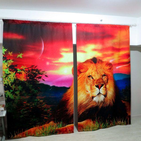 57amazon zpsaqggsifh 600x600 - Lovely  Lion Wildlife Curtain Set