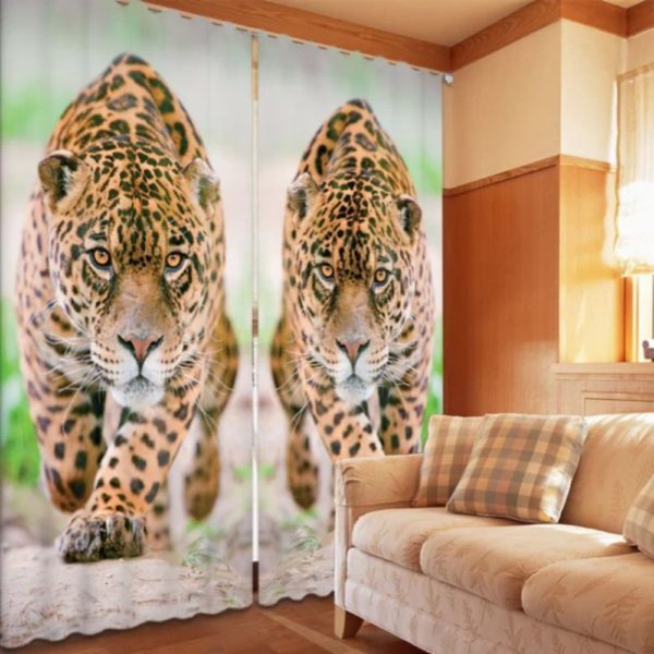 Classic Jaguar Wildlife Curtain Set
