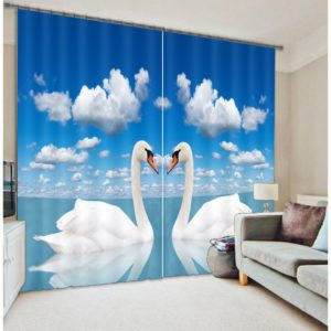 White Swan Curtain Set
