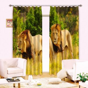 59amazon zpsinivelog 300x300 - Lion Animal Print Curtain Set
