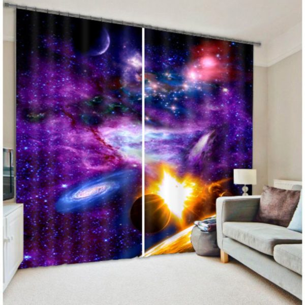 Contemporary Galaxy Curtain set
