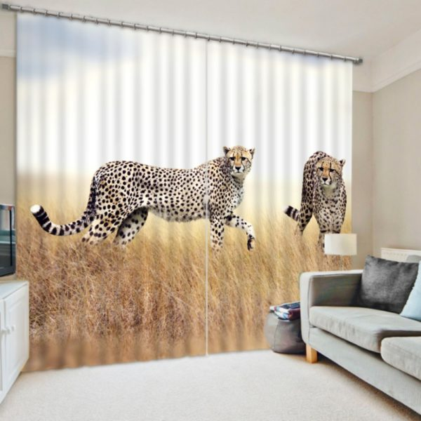 Majestic Jaguar Animal Curtain set
