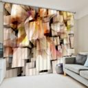 Unique Autumn Themed 3D Curtain set