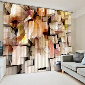 Unique Autumn Themed 3D Curtain set