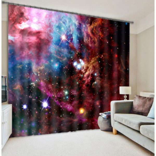 Glorious Star And Galaxy Curtain set
