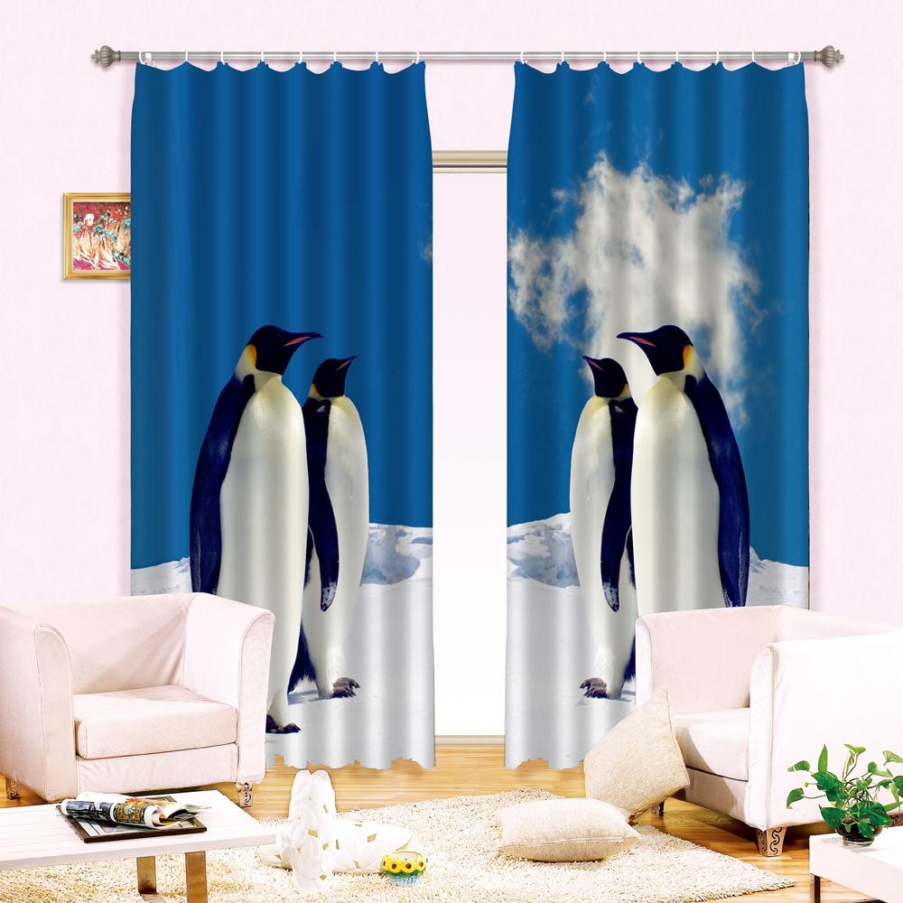 Royal Penguin Curtain Set Ebeddingsets