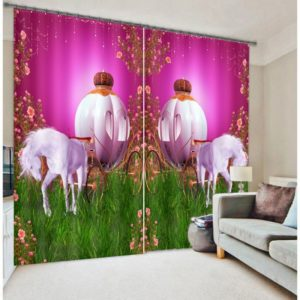 Charming Unicorn Curtain set