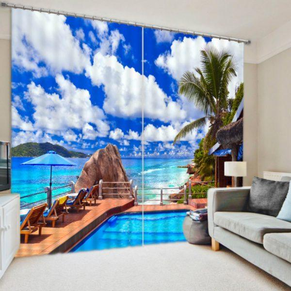 Fabulous Beach Curtain set