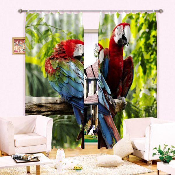 64amazon zpsynog1sxq 600x600 - Lovely Parrots Curtain Set
