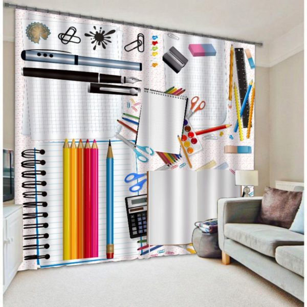 Colorful Stationery Curtain set