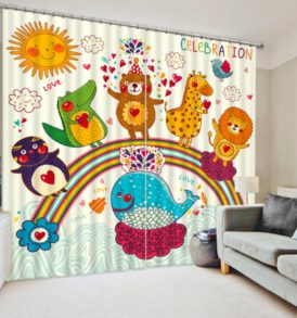 Beautiful Curtain set With Animal Theme