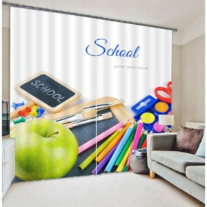 Awesome School Picture Curtain Set