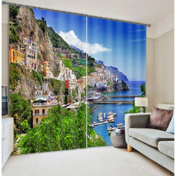 Ultra-cool Curtain set With Beach Theme