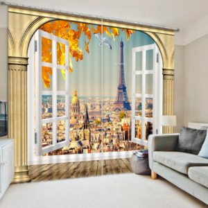 Amazing Eifel Tower Curtain Set
