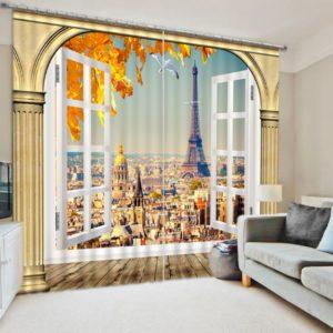 Amazing Eifel Tower Curtain Set