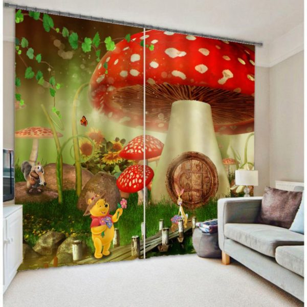 Lovely Winnie The Pooh Curtain Set